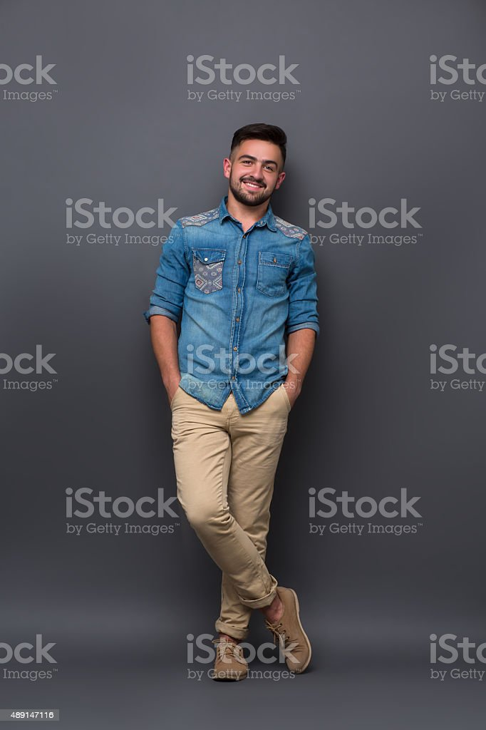 Handsome hipster man stock photo