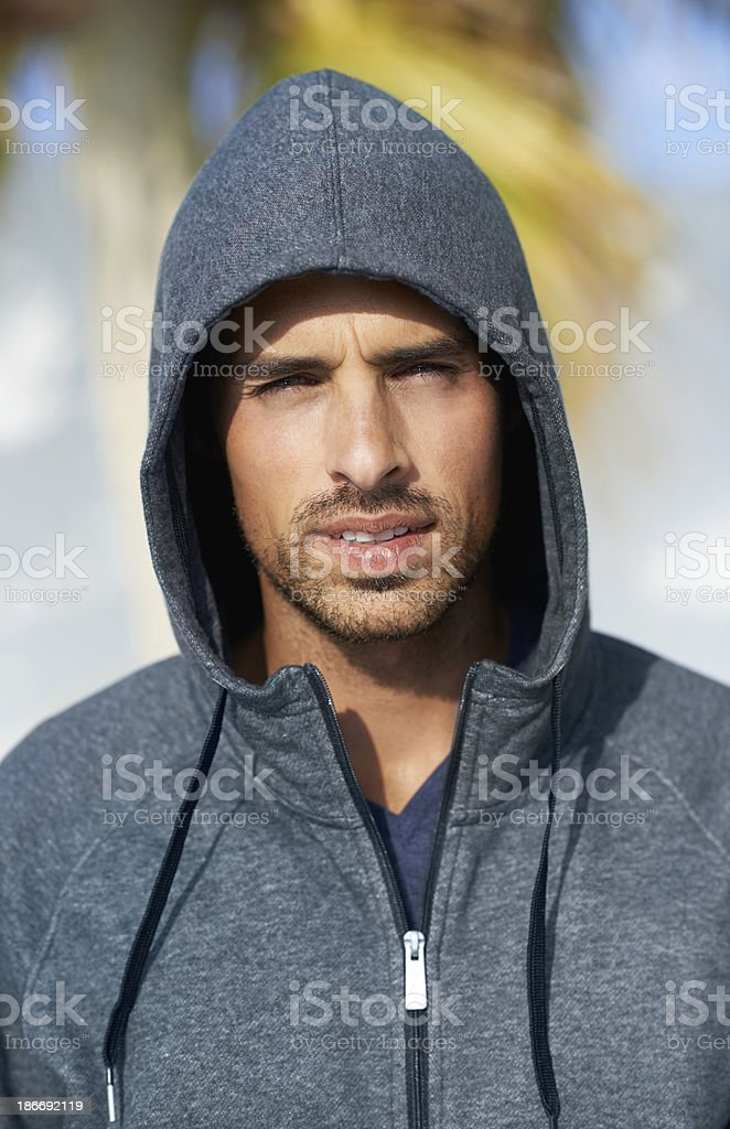 Handsome in his hood royalty-free stock photo