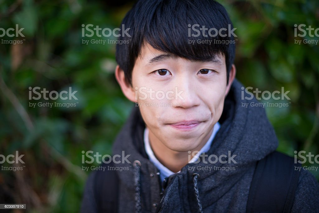 Handsome Japanese young man royalty-free stock photo