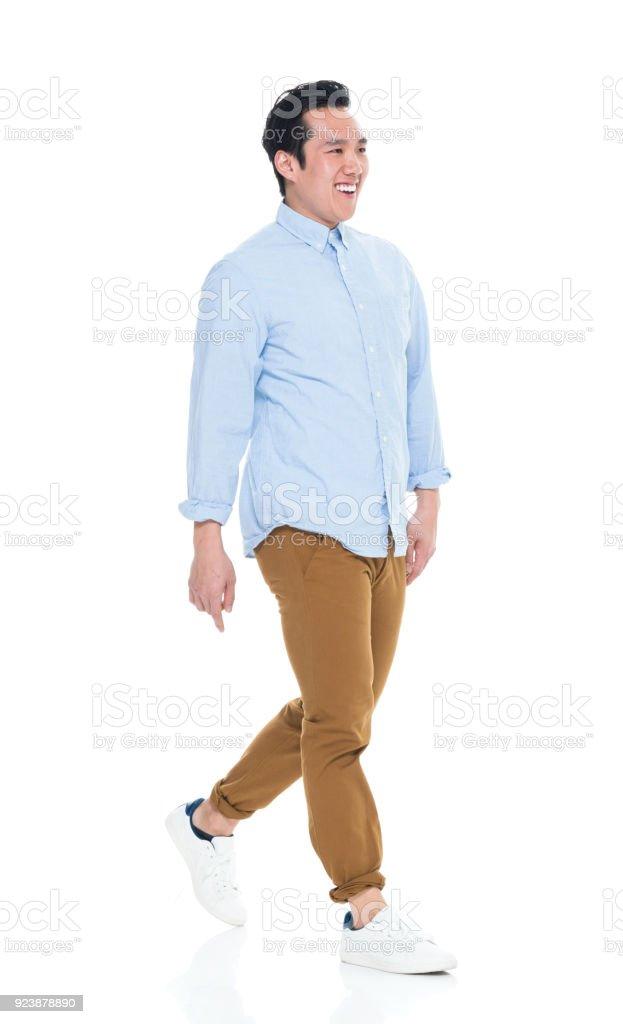 Gut aussehend männlichen Koreanisch zu Fuß – Foto