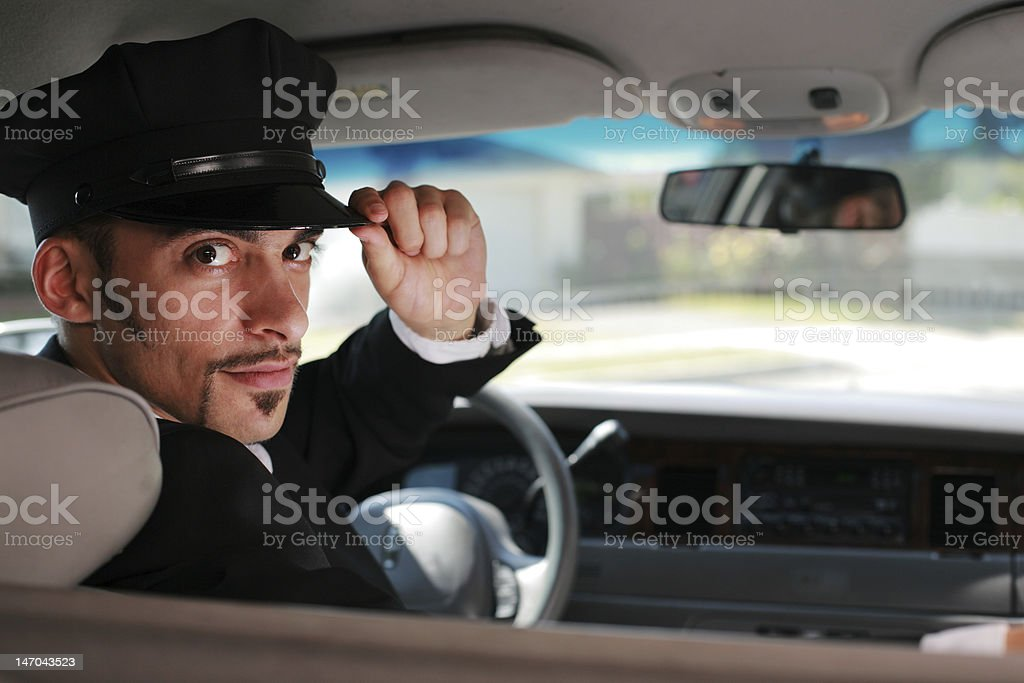 Handsome limo driver stock photo