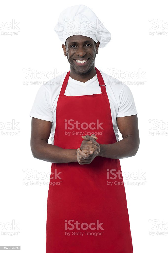 Handsome male chef isolated on white - Royalty-free Adults Only Stock Photo