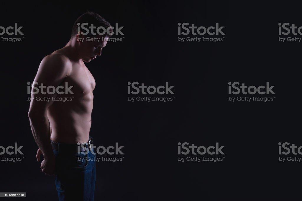 Nackte männliche Fitness-Modelle