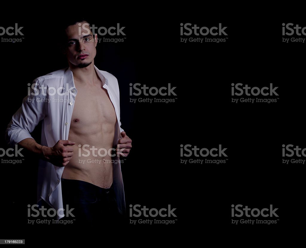 Handsome male model studio portrait royalty-free stock photo