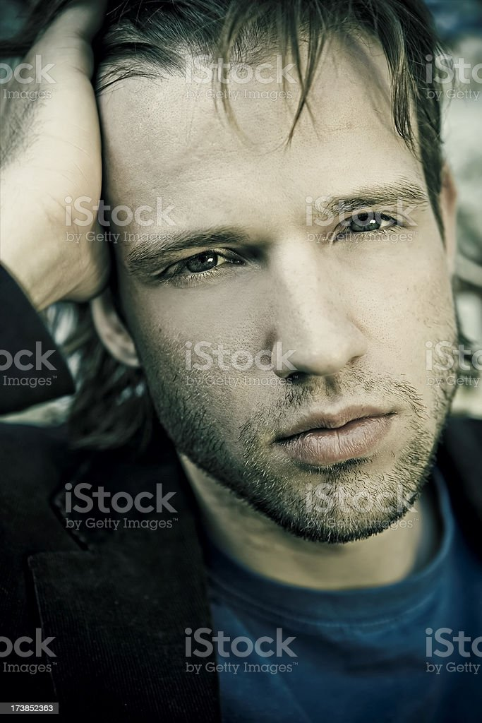Handsome male royalty-free stock photo