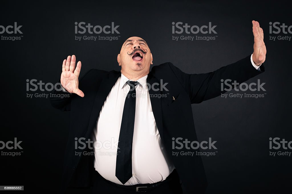 Handsome man doing different expressions in different stock photo