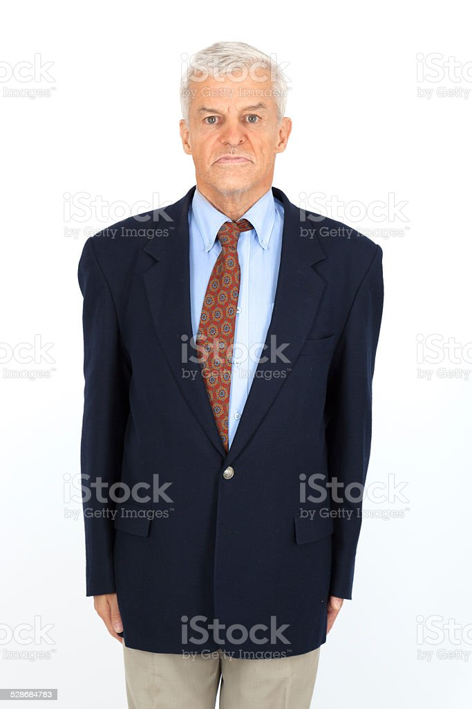 Handsome man doing different expressions in different sets of clothes stock photo
