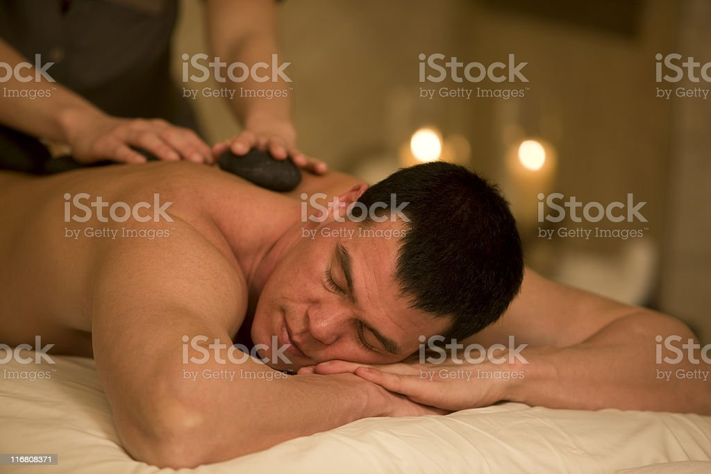 Handsome Man In A Spa royalty-free stock photo