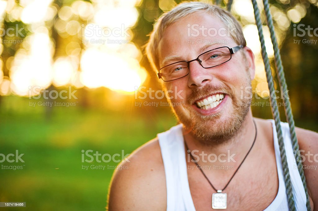 Handsome man in beautiful setting royalty-free stock photo