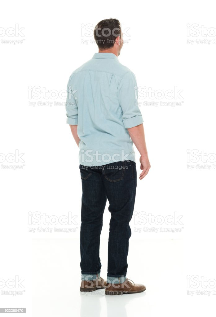 Handsome man in casual clothes stock photo