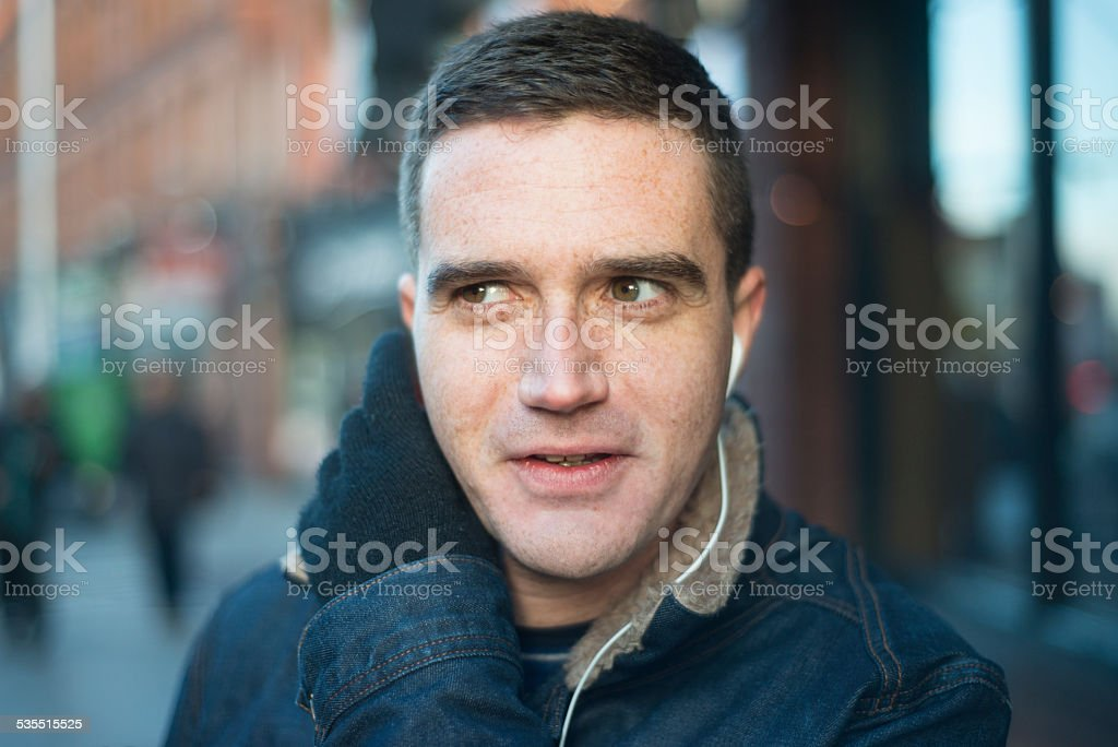 Handsome man in city royalty-free stock photo