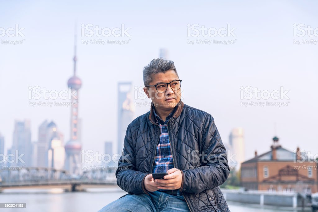 Handsome man in jacket stock photo