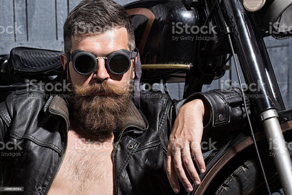 Handsome man in sunglasses stock photo