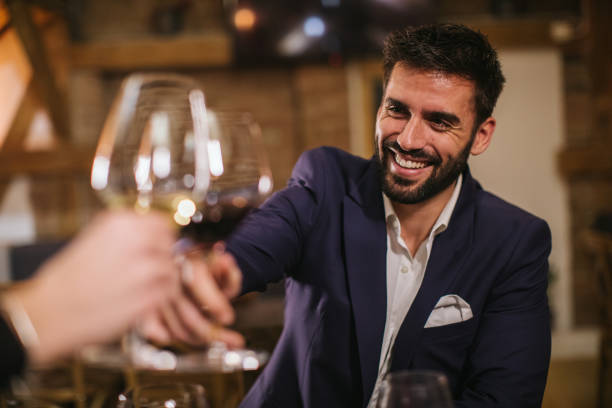 Handsome Man in winery stock photo