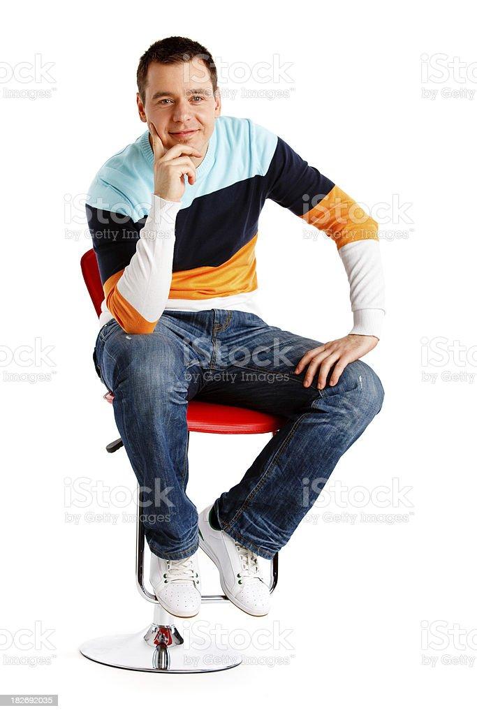 Bel homme isolé sur blanc - Photo