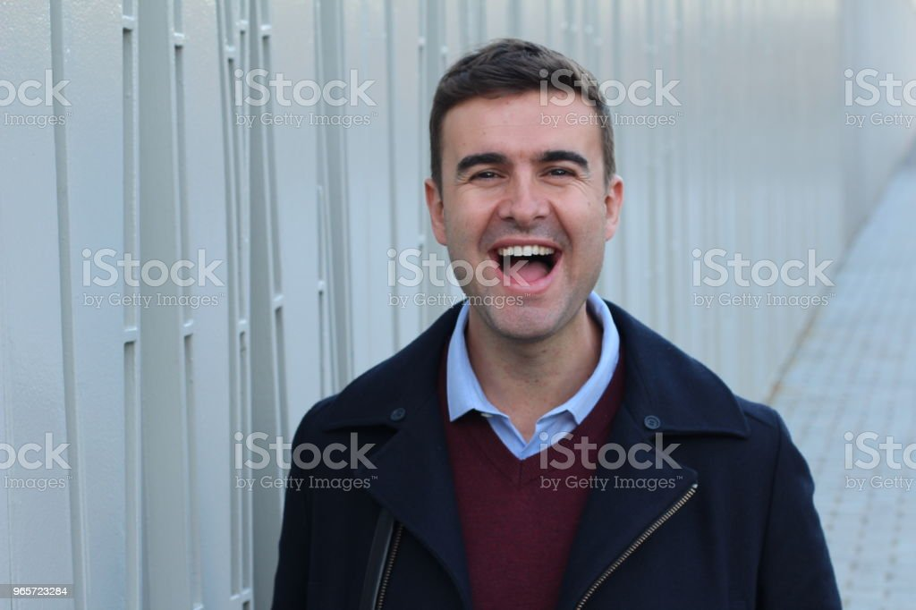 Handsome man laughing out loud - Royalty-free 30-34 Years Stock Photo