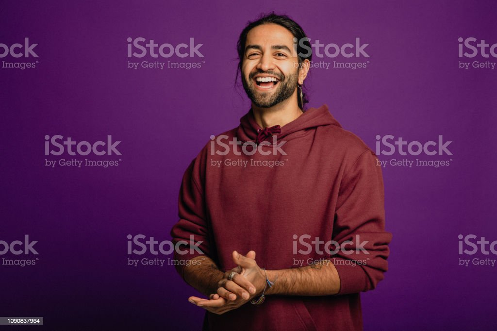 Handsome Man Laughing stock photo