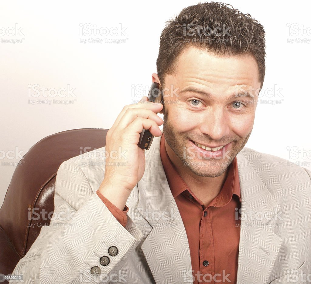 Handsome man on the phone 2 - Royalty-free Adult Stock Photo