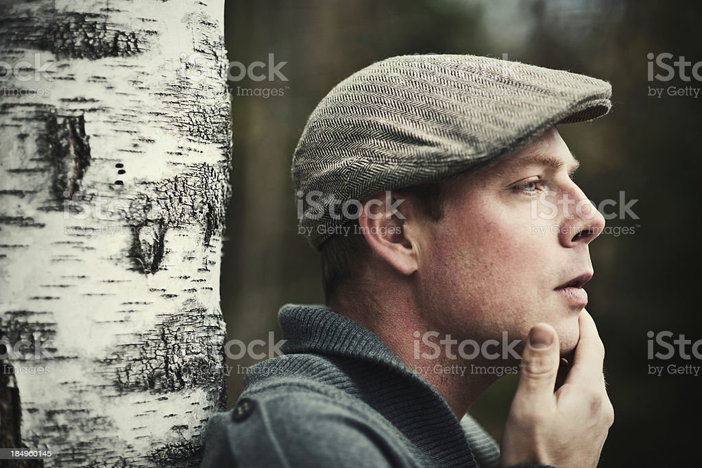 Handsome man outdoors royalty-free stock photo