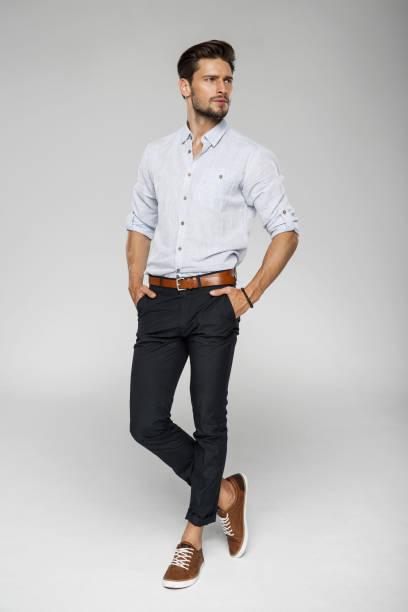 yakışıklı adam - klasik gömlek stok fotoğraflar ve resimler