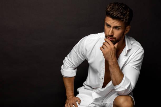 Handsome man stock photo