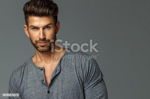 istock Handsome man 909963626