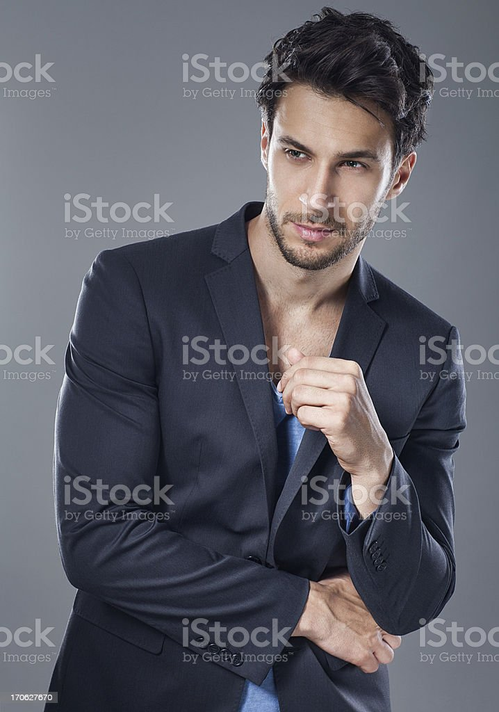 Handsome man posing stock photo