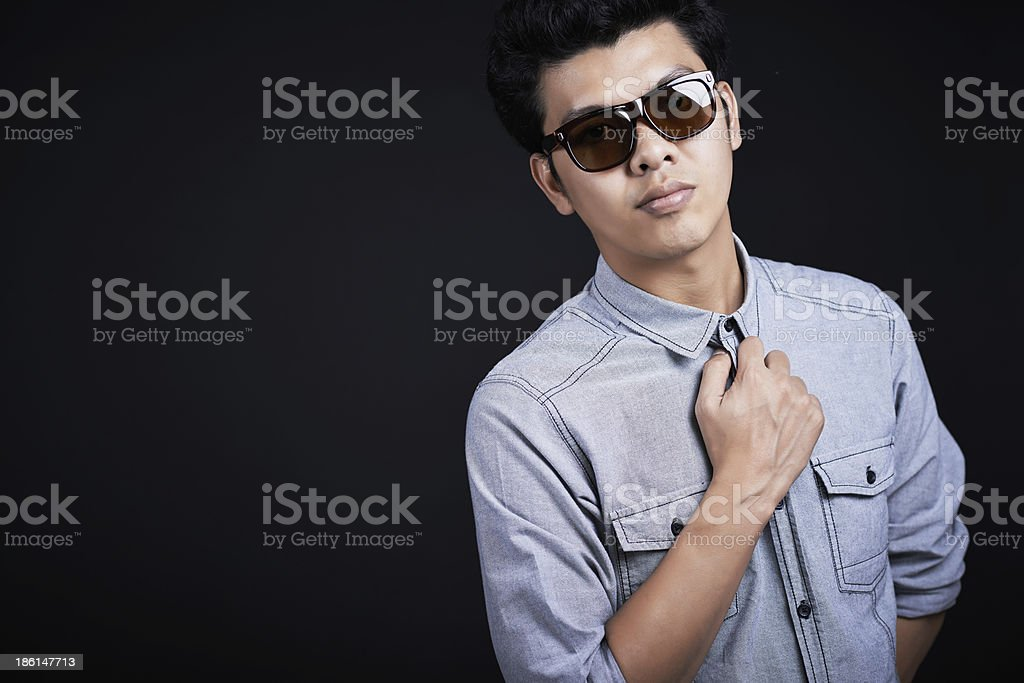 Handsome man take in the studio royalty-free stock photo