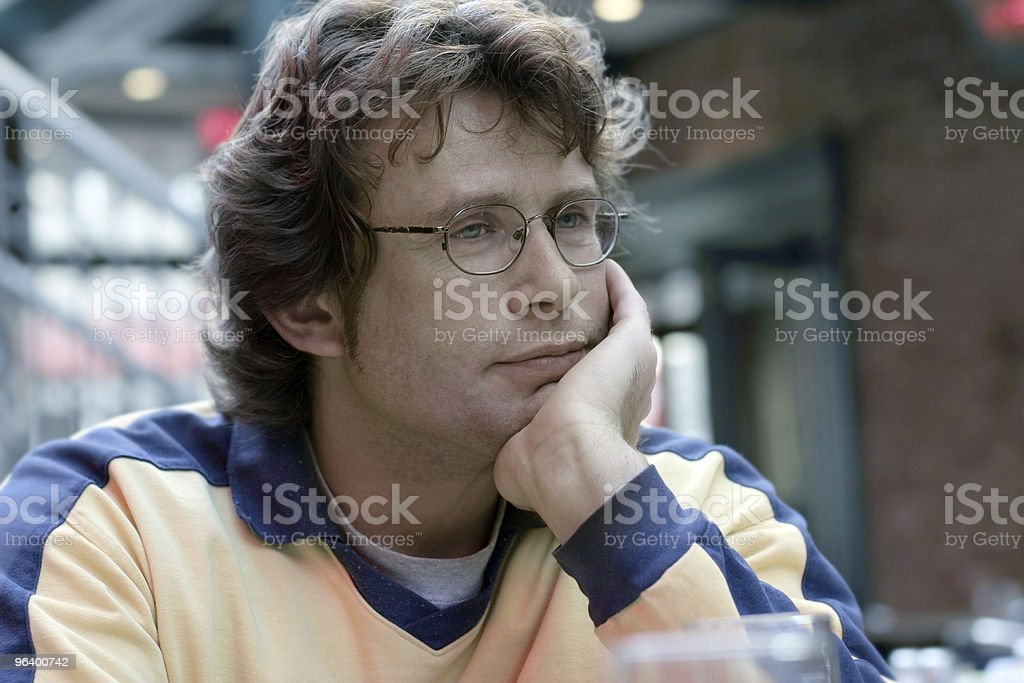 Handsome man thinking royalty-free stock photo