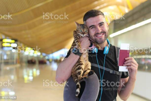 Handsome man traveling with his cat picture id970175826?b=1&k=6&m=970175826&s=612x612&h=eqkq qyp9ksr13n28xyqeexuwm5auevzg4a9oip0h k=