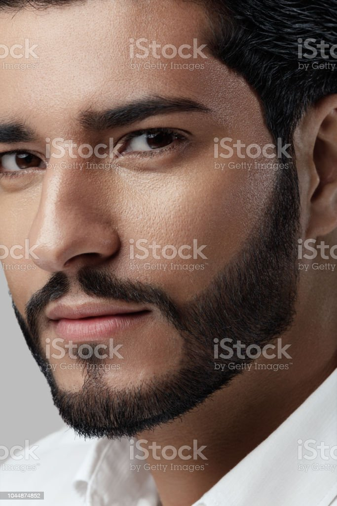 Brilliant Handsome Man With Beard Style And Beauty Face Portrait Stock Photo Schematic Wiring Diagrams Phreekkolirunnerswayorg