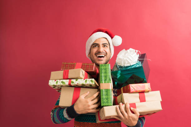 Handsome Man With Presents During Christmas – Foto