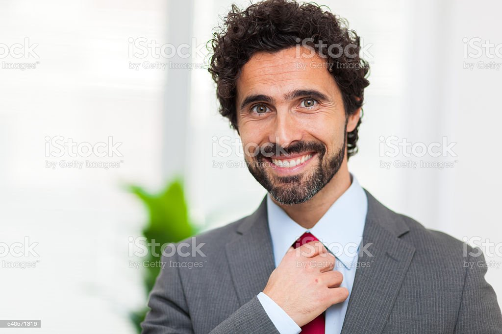 Handsome manager portrait stock photo