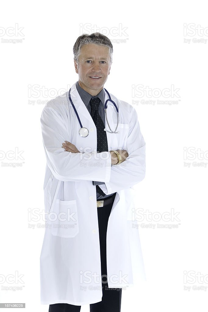 Handsome Mature Male Doctor royalty-free stock photo