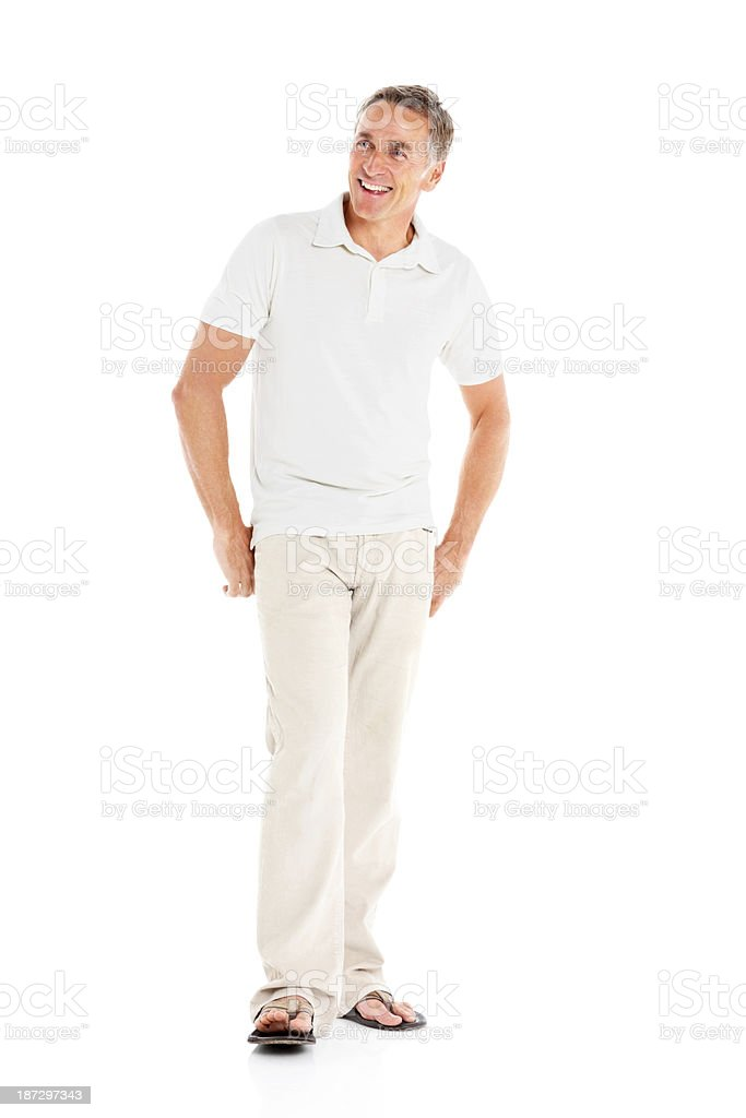 Handsome mature man looking at copyspace royalty-free stock photo