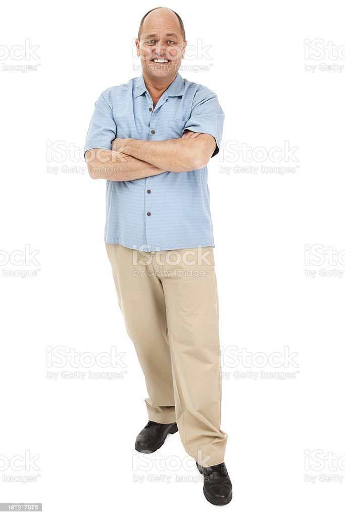 Handsome Mature Man on White stock photo
