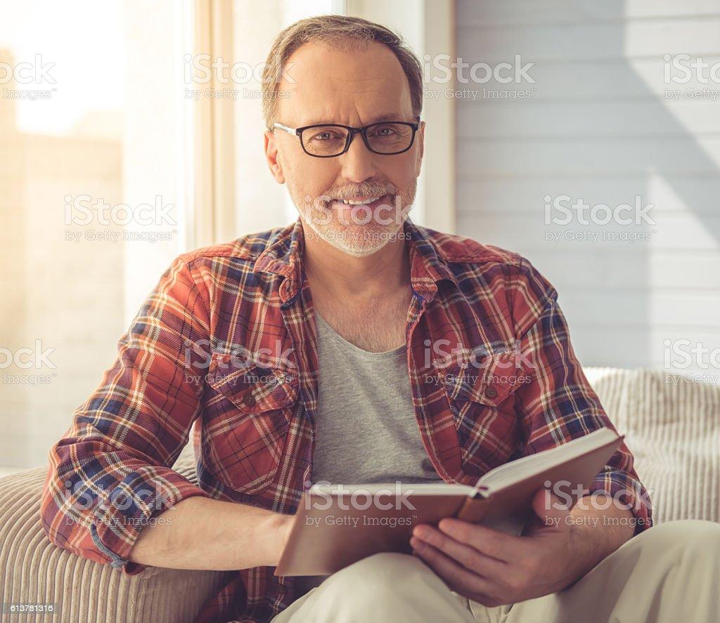 Handsome mature man stock photo
