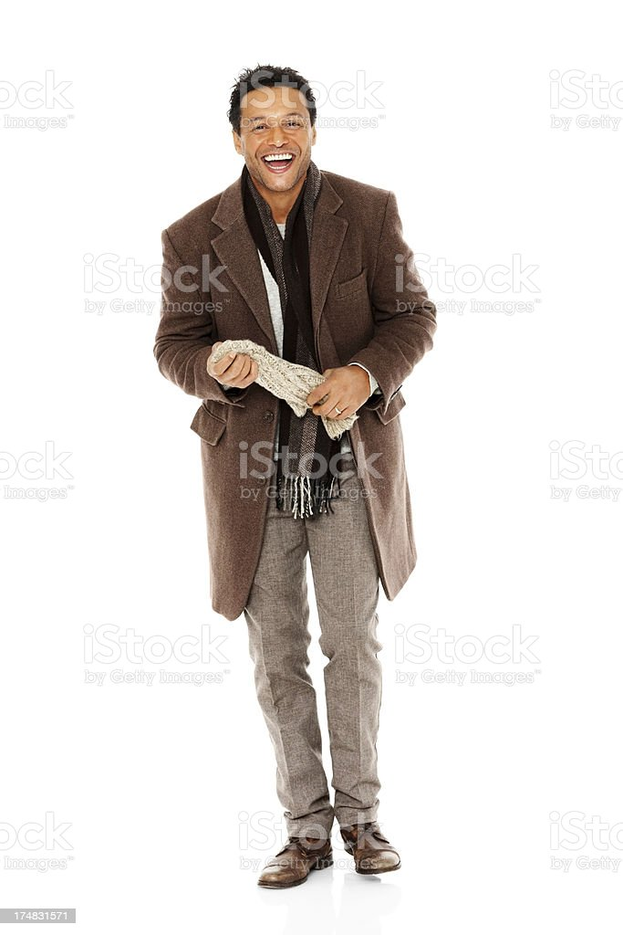Handsome mature man with casual warm clothing royalty-free stock photo