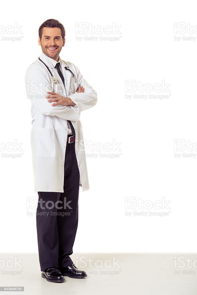 Handsome medical doctor stock photo