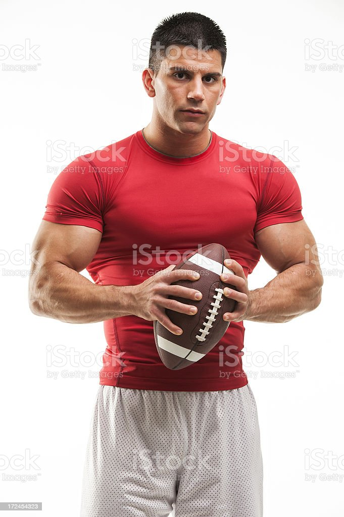 Handsome Men with Football royalty-free stock photo