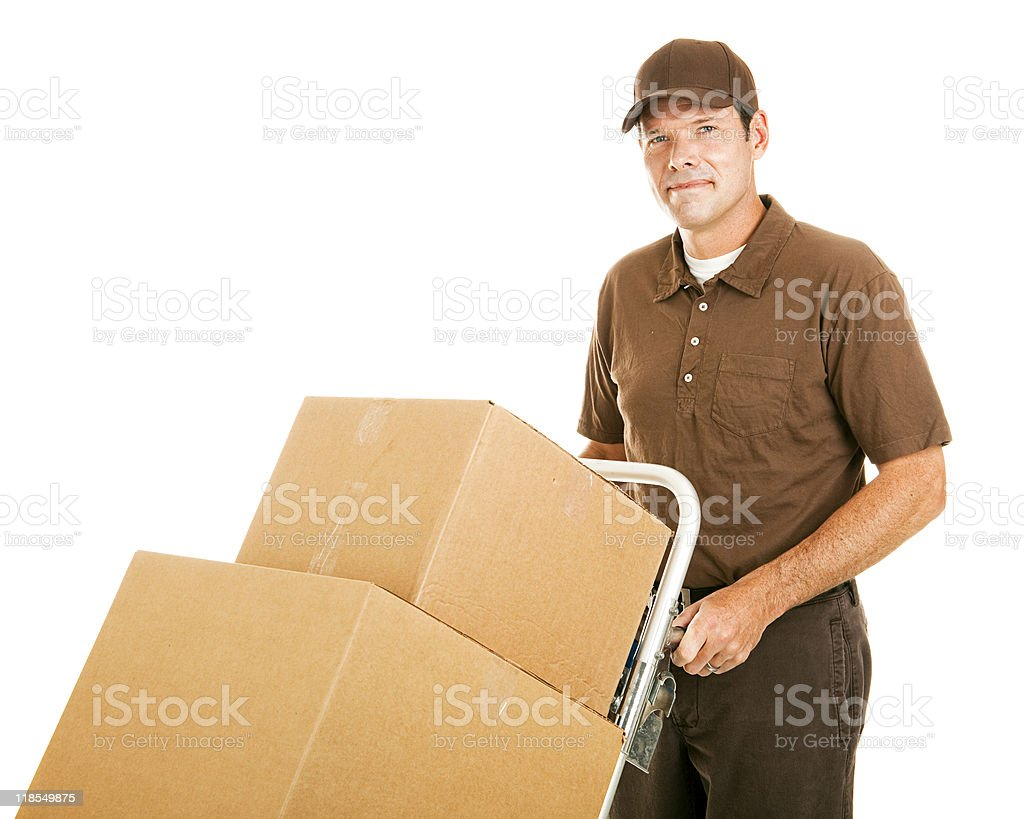 Handsome Moving Man royalty-free stock photo