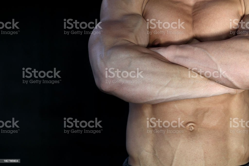 Handsome muscular male detail royalty-free stock photo
