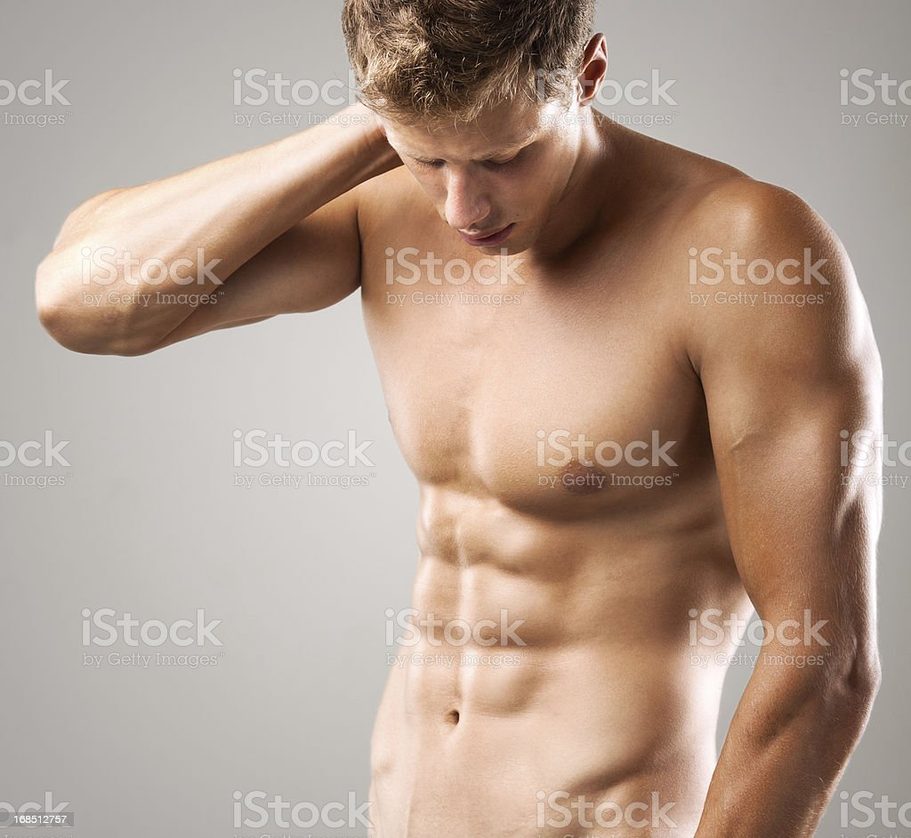 handsome muscular male model royalty-free stock photo