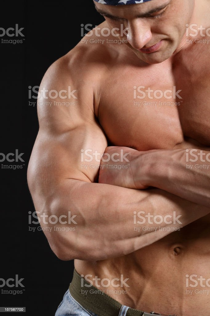 Handsome muscular male portrait royalty-free stock photo