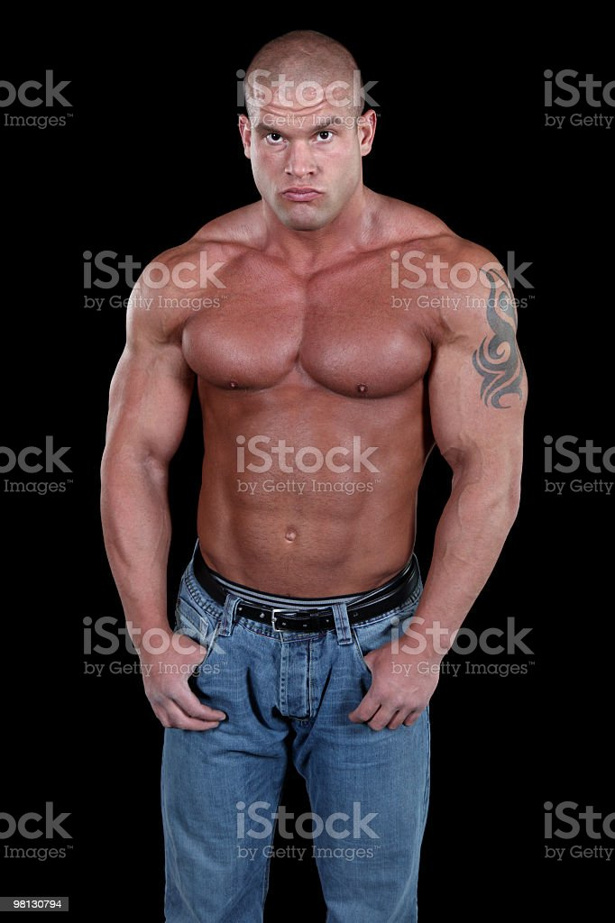 Handsome muscular man royalty-free stock photo