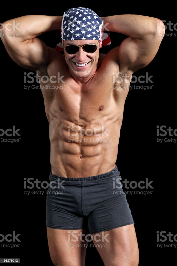 Handsome muscular man posing royalty-free stock photo