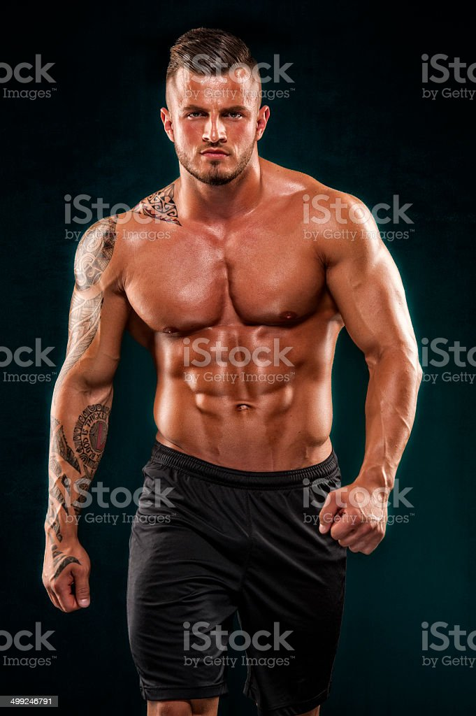 Handsome Muscular Men stock photo