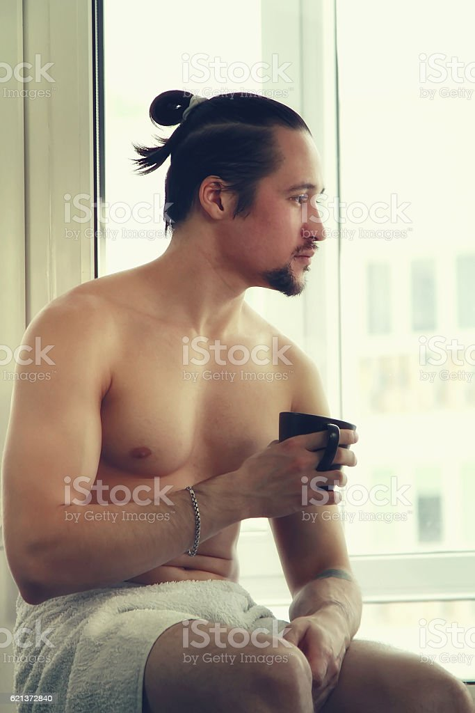 Handsome Muscular Young Man In White Towel Stock Photo   More ... cfce1e46a
