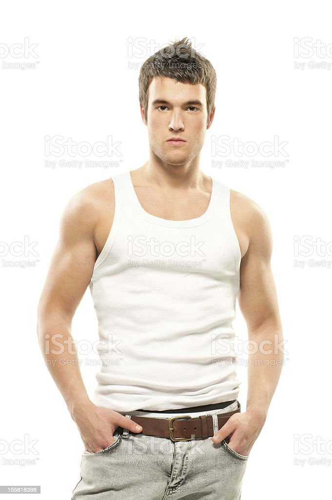 handsome muscular young man royalty-free stock photo