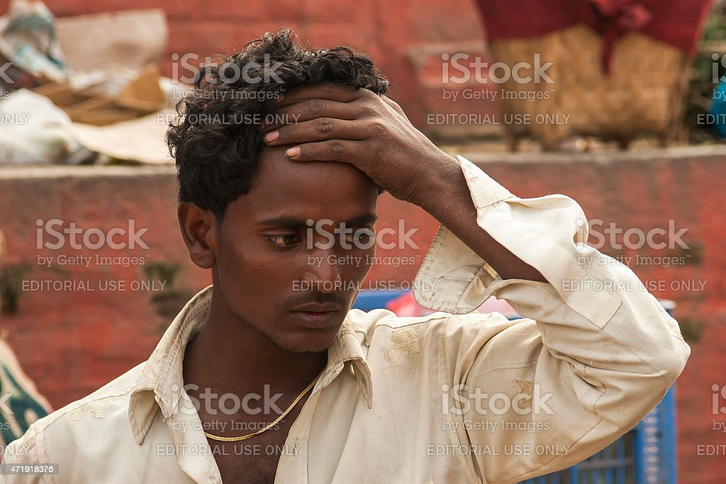 handsome Nepalese man stock photo